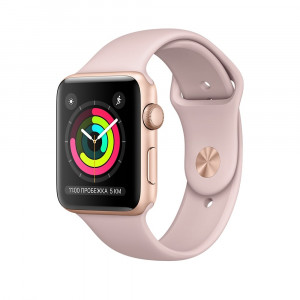 Apple Watch Series 3 Золотисто-розовые 42 мм