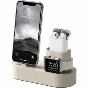 Док-станция Elago Charging Hub для iPhone / Apple Watch / AirPods белая (Classic White)