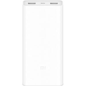 Внешний аккумулятор Xiaomi Mi Power Bank 2C (20000 mAh) белый