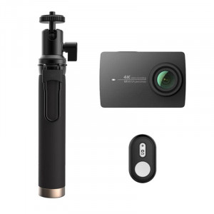 Xiaomi Yi 4k Action Camera Bluetooth Selfie Stick set black (Global)