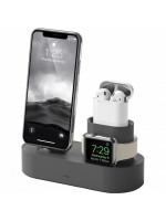 Док-станция Elago Charging Hub для iPhone / Apple Watch / AirPods тёмно-серая