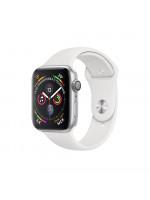 Apple Watch Series 4 GPS 40 мм, серебристый корпус, белый ремешок
