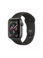 "Apple Watch Series 4 GPS 44 мм, корпус цвета ""серый космос"", чёрный ремешок"