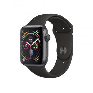 "Apple Watch Series 4 GPS 40 мм, корпус цвета ""серый космос"", чёрный ремешок"