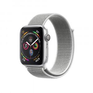 "Apple Watch Series 4 GPS 40 мм, серебристый корпус, браслет цвета ""белая ракушка"""