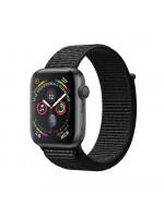 "Apple Watch Series 4 GPS 44 мм, корпус цвета ""серый космос"", чёрный браслет"