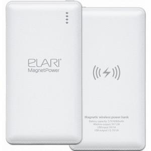 Внешний аккумулятор Elari MagnetPower 6000 мАч белый