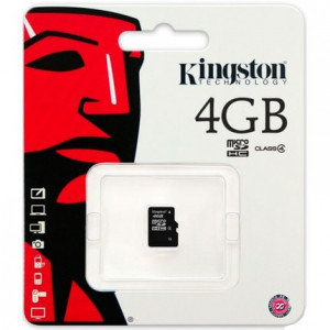 Карта памяти MicroSD 4GB Kingston 10 CLASS