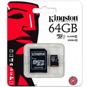 Карта памяти MicroSD 64GB Kingston 10 CLASS