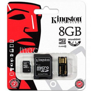 Карта памяти MicroSD 8GB Kingston 10 CLASS